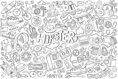 Hipster abstract illustration Royalty Free Stock Image