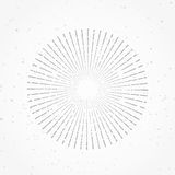 Hipster abstract retro radial sunburst starburst sunshine line. Pattern template isolated over white background. Vector illustration Stock Photography