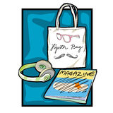 Hipster accessories clip art Royalty Free Stock Image