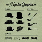 Hipster accessories graphic set 4 Stock Images