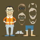 Hipster accessories vector clip-art Stock Photo