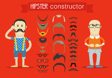 Hipster accessories vector clip-art Royalty Free Stock Image