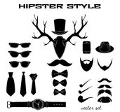 Hipster accessory pictograms collection Stock Photo