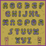 Hipster Alphabet. Vector Illustration royalty free stock photography