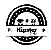 Hipster animal design,  illustration. Royalty Free Stock Images