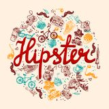 Hipster background Stock Images