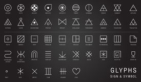 Hipster background and logotypes. symbols collection Royalty Free Stock Photos