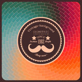 Hipster background made of triangles. Retro label design. Square Royalty Free Stock Photos