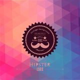 Hipster background made of triangles. Retro label design. Square Royalty Free Stock Images