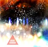 Hipster background made of triangles and space background Stock Images