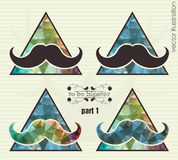Hipster background with a mustache Stock Photography