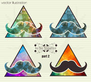Hipster background with a mustache Stock Photos