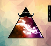 Hipster background with a mustache Royalty Free Stock Photography
