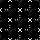 Hipster background. X pattern, cross. Vector minimalist geometric texture. Seamless pattern with simple minimal figures, crosses, arrows, circles. Black & white Stock Illustration