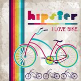 Hipster background in retro style Stock Image