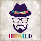 Hipster background in retro style Stock Photography