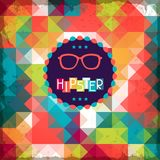 Hipster background in retro style Stock Photos