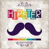 Hipster background in retro style Royalty Free Stock Image