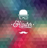 Hipster background. Hipster style background. Vector illustration Stock Photography