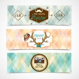 Hipster banners horizontal Stock Photo