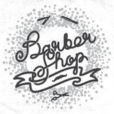 Hipster Barber Shop Lettering Royalty Free Stock Photos