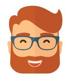 The hipster with a beard avatar Royalty Free Stock Photography