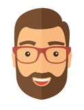 The hipster with a beard avatar Stock Photos