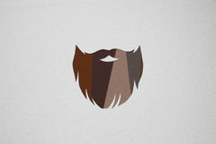 Hipster beard design Royalty Free Stock Image