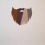 Hipster beard design stock photos