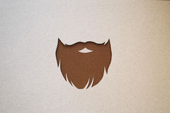 Hipster beard design stock image