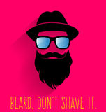 Hipster. Beard. Don't Shave It. Royalty Free Stock Image