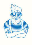 Hipster with a beard Stock Photography