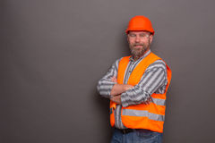 Hipster bearded builder Royalty Free Stock Photography