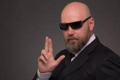 Hipster bearded man Stock Image