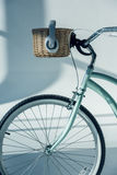 Hipster bicycle with basket Royalty Free Stock Photo