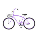 Hipster bicycle flat vector illustration. Stock Images