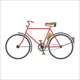 Hipster bicycle flat vector illustration. Royalty Free Stock Images