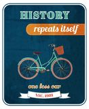 Hipster bicycle promo poster Royalty Free Stock Photo