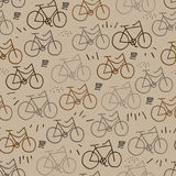 Hipster bicycle seamless pattern Royalty Free Stock Photos