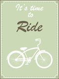 Hipster bike retro illustration Royalty Free Stock Images