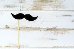 Black  Paper Moustache. Hipster Black Moustache  in paper style.Party accessory Stock Photos