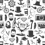 Hipster Black Pattern Stock Photography