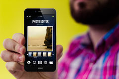Hipster blog smartphone Royalty Free Stock Photos