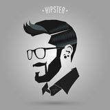 Hipster blue hair style Royalty Free Stock Photos
