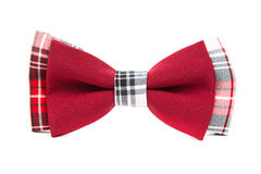 Hipster bow tie red and black Royalty Free Stock Image