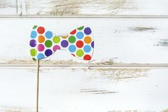 Colorful Paper Bow Tie royalty free stock photos