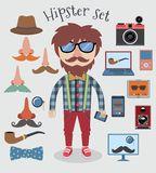 Hipster boy set Stock Photo