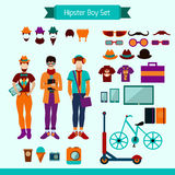 Hipster Boy Set Royalty Free Stock Photos