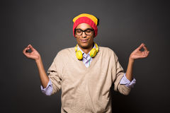Hipster brazilian man in studio Royalty Free Stock Images