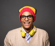 Hipster brazilian man in studio Royalty Free Stock Photo
